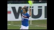 Goal di Quagliarella su errore di Peruzzi, la Sampdoria va in vantaggio con la Lazio