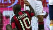 Rosati neutralizza Seedorf e para il suo tiro in porta a San Siro