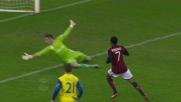 Robinho butta sul palo un goal già fatto