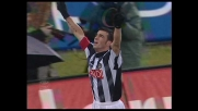 Con un colpo di biliardo Di Natale porta in vantaggio l'Udinese con la Sampdoria