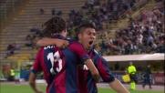 Laxalt di testa realizza la rete dell'1-1 tra Bologna e Milan