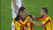 Pareggio del Lecce contro il Milan con la rete di Olivera