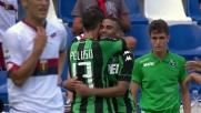 Defrel punisce il Genoa con la rete del 2-0 per il Sassuolo