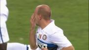Il goal di Cambiasso apre le danze col Genoa al Ferraris