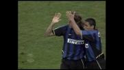Crespo di testa porta l'Inter in vantaggio contro la Lazio