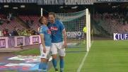 Higuain conclude in goal l'assist di Mertens e raddoppia il vantaggio del Napoli