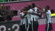 Duvan Zapata realizza il goal del vantaggio contro l'Empoli