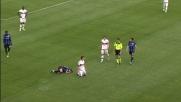 Il tackle di De Sciglio su Diamanti è troppo duro: fallo e cartellino giallo