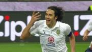 Toni segna dal dischetto il goal del vantaggio del Verona sul Milan al Meazza