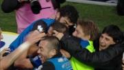 Denis, goal vittoria di potenza contro il Cagliari