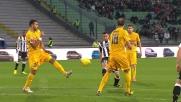 Contro il Verona Bruno Fernandes prova con l'esterno destro: palo pieno!