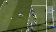 Heurtaux è pericoloso ma colpisce male nel cuore dell'area della Sampdoria: palla fuori di poco