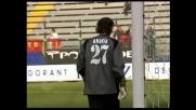 Esposito prova a segnare un goal con uno spettacolare pallonetto ma Anania gli nega questa gioia