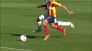 Zapata blocca la corsa di Di Michele verso la porta dell'Udinese