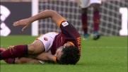 Clima teso all'Olimpico durante il derby Roma-Lazio. Tackle duro di Lulic su Salah e fallo inevitabile