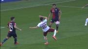 El Shaarawy non inquadra la porta del Genoa da ottima posizione: palla a lato