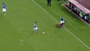 Koulibaly insegue per tutto il campo Felipe Anderson e gli ruba la palla