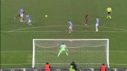 Potente ma alto il tiro di sinistro di Marquinho nel derby di Roma