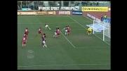 Giampa' segna il goal dell'orgoglio del Messina a Livorno
