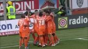 Il sinistro di Inler vale il goal del raddoppio dell'Udinese al Manuzzi