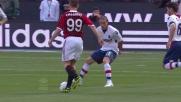 Ibrahimovic inventa una giocata stupenda a San Siro contro il Bologna