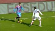 Tackle falloso di Birsa su Gomez e calcio di rigore al Massimino