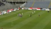 Il tiro-cross di Thiago Ribeiro sfiora il goal contro il Lecce e finisce sul palo