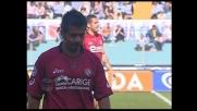 Vargas entra duro da dietro su Pandev: espulso il giocatore del Livorno