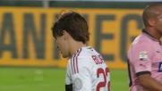 Al Renzo Barbera Ujkani blocca il destro di Bojan dalla distanza