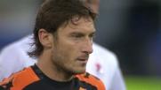 Totti in goal anche dal dischetto in Bari-Roma