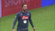 Il tiro di Higuain fa la barba al palo della Lazio