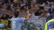 Mauri a botta sicura segna il goal del tris della Lazio in rimonta sull'Inter