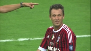 Destro secco di Cassano, palo del Milan contro la Lazio