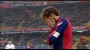Pallonata in faccia a Marco Rossi e gioco fermo a Genova