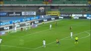 Al Bentegodi il difensore del Cagliari Ceppitelli salva sulla linea