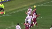 Imperioso colpo di testa di Burdisso per il goal contro il Milan