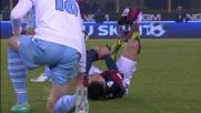 Rosso per doppia ammoizione di Kozak in Bologna-Lazio