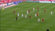 Borriello prova a impensierire la difesa della Lazio nel derby romano