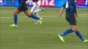 Nel derby col Milan Ibrahimovic avvia di tacco il contropiede dell'Inter
