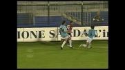 Esposito sbaglia un goal di testa contro la Lazio al Sant'Elia