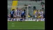 Vannucchi con una punizione magistrale realizza il goal del 2-0 e chiude i conti con il Bologna