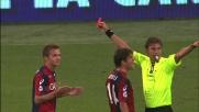 Criscito incredulo per il cartellino rosso ricevuto contro il Napoli