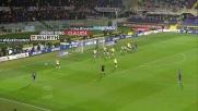 Basanta colpisce la traversa di testa contro il Milan