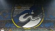 Le coreografie di Inter e Milan nel derby d'andata