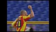 Colpo di testa di Tiribocchi e goal del vantaggio per il Lecce sulla Lazio