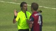Castillo lanciato a rete viene atterrato da Moretti: per Giannoccaro è rosso diretto