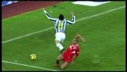 Almiron stende Grosso ed è calcio di rigore per la Juventus