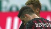 Contro la Lazio Bonaventura su punizione colpisce in pieno la traversa