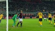 Bertolacci sfiora il palo con una gran conclusione, il Verona si salva