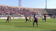 Santana centra il palo da  due passi contro il Cagliari